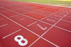 Lanes of running track Stock Photo