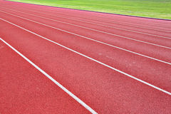 Lanes of running track Royalty Free Stock Photos