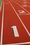 Lanes on running track Stock Image