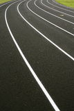 Lanes on a running track Royalty Free Stock Photography