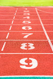 Lanes of running track Royalty Free Stock Photography
