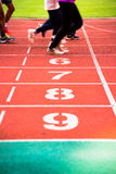Lanes of running track Stock Photography