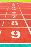 Lanes of running track Royalty Free Stock Image