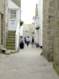 The Lanes, St. Ives, Cornwall. The narrow lanes that fill the town of St. Ives, Cornwall, England, UK Royalty Free Stock Image