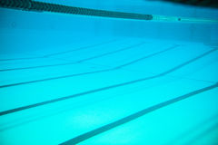 Lanes in swimming pool Royalty Free Stock Photo