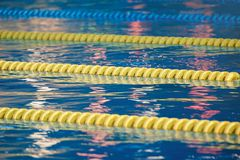 Lanes in swimming pool Royalty Free Stock Photos