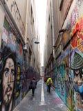 Laneway在墨尔本澳大利亚 免版税图库摄影