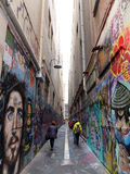 Laneway in Melbourne Australia. A laneway with graffiti in Melbourne, Victoria, Australia Royalty Free Stock Photography