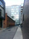 Laneway moderno vuoto Fotografia Stock Libera da Diritti
