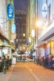 Laneway w Melbourne przy nocą Obraz Royalty Free