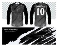 Langärmlige Fußballtrikot-T-Shirts Modellschablone Lizenzfreie Stockfotografie