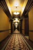 Lang Art Deco Corridor Royalty-vrije Stock Afbeelding