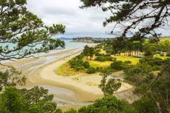 Lang Baaistrand Auckland Nieuw Zeeland; Regionaal Park stock afbeeldingen