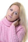Lang blond haar stock afbeelding