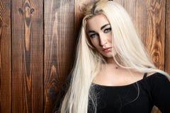 Lang blonde haar royalty-vrije stock afbeelding