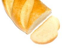 Lang brood dat op wit wordt geïsoleerdd stock foto
