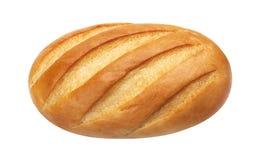 Lang brood Wit die brood op witte achtergrond, hoogste mening wordt geïsoleerd royalty-vrije stock foto's