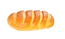 Lang broodbrood op witte achtergrond Stock Fotografie