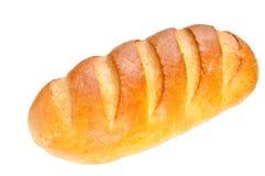 Lang broodbrood op witte achtergrond Royalty-vrije Stock Foto's