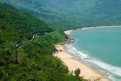 Lang Co beach, Hue, train, railway Royalty Free Stock Image