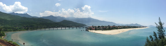 Lang Co beach in Vietnam Royalty Free Stock Photos