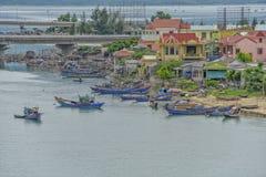 Lang Co stad, ton, Vietnam royaltyfri fotografi