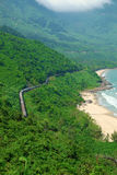 Lang Co strand, ton, drev, järnväg Royaltyfria Foton