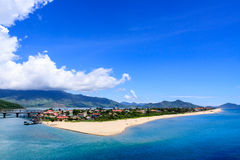 Lang Co town. View from Hai Van pass, Hue, Vietnam Royalty Free Stock Image