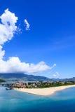 Lang Co town. View from Hai Van pass, Hue, Vietnam Royalty Free Stock Photo