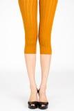 Lang dünne weibliche Beine Lizenzfreie Stockfotografie