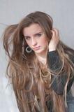 Lang haar Stock Fotografie