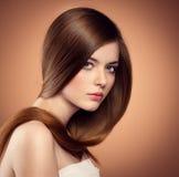 Lang haarmodel stock afbeeldingen