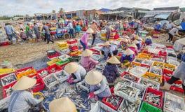 Lang Hai-strand, vissenmarkt Royalty-vrije Stock Foto's