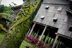Lang huis in Sarawak royalty-vrije stock afbeelding
