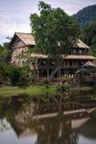 Lang huis in Sarawak royalty-vrije stock foto's