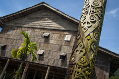 Lang huis in Sarawak stock foto