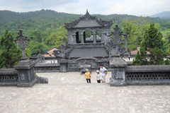 Lang khai dinh tomb in Vietnam. Lang khai dinh tomb, located in Hue, Vietnam. It was built from 1920 to 1931 taking 11 years to complete. The tomb is a blend of Stock Photography