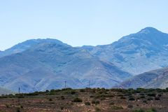 Lang Kloof Mountains South Africa. Lang Kloof Mountains Western Cape South Africa Royalty Free Stock Photo