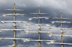 Lang schip Royalty-vrije Stock Foto's