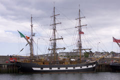 Lang schip in Bangor havenco.down Noord-Ierland Stock Fotografie