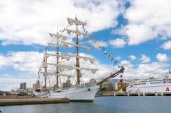 Lang Schip Cuauhtemoc in Santa Cruz de Tenerife Royalty-vrije Stock Afbeelding