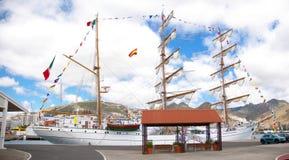Lang Schip Cuauhtemoc in Santa Cruz de Tenerife Stock Foto