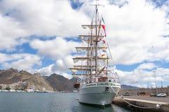 Lang Schip Cuauhtemoc in Santa Cruz de Tenerife Royalty-vrije Stock Foto