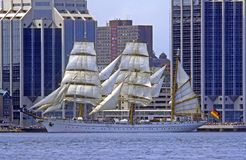 Lang Schip Gorch Fock in Halifax stock fotografie