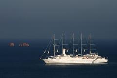 Lang schip - Paros Royalty-vrije Stock Foto's