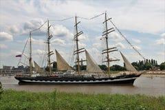 2016 Lang Schipras, Antwerpen België Stock Foto