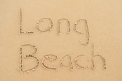 Lang strand Royalty-vrije Stock Foto