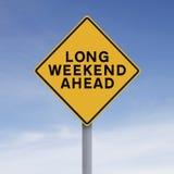 Lang Weekend vooruit royalty-vrije stock fotografie