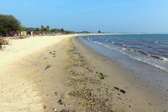 Lang zandig strand Studland Dorset Engeland het UK stock foto's