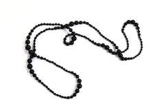 Lang zwarte glanzende halsband royalty-vrije stock foto's